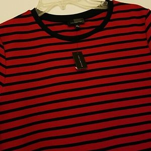 The Limited Dresses - THE LIMITED fitted A-line striped t-shirt dress