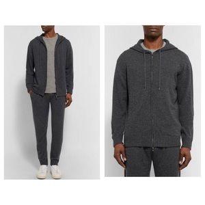 NWT Saks 5th Ave Zip Hoodie - slim fit wool/cotton