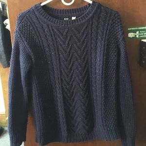 Urban Outfitters navy cable knit XS