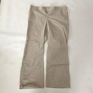 Distressed wide leg khaki pants gap size 16