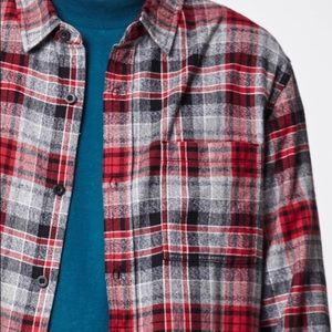 PacSun Tops - Pacsun Marled Plaid Flannel Long Sleeve Button Up