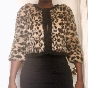 Lucca Couture Jackets & Blazers - Leopard print faux fur jacket