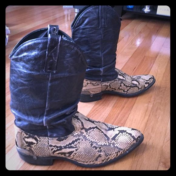 bc71fcb9adb Men's Python and leather Dingo Boots