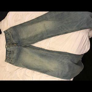 High waist bell bottom jeans