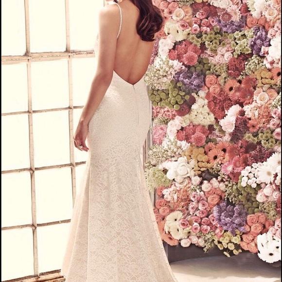mikaella Dresses | Low Back Lace Wedding Gown | Poshmark