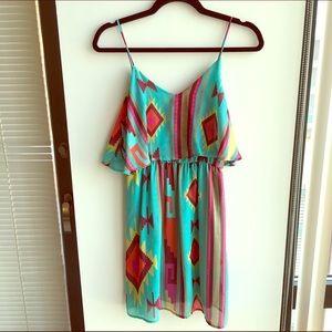 Tribal Printed Mini Dress