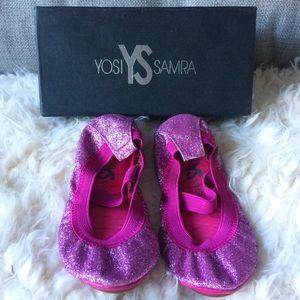 Yosi Samra Other - Yosi Samra Glitter Ballerina Flats