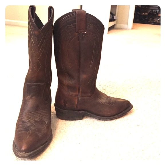 f790b03b945 Frye boots: Women's Billy Pull On cowboy boots!