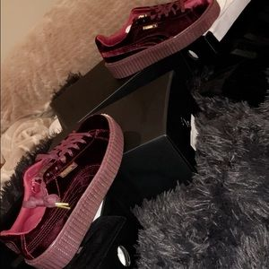NEW RED VELVET PUMA CREEPER women's 9.5