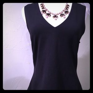J. Crew Tops - J. Crew Black Sleeveless Top With Gold Back Zipper