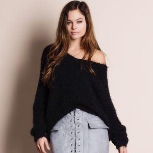 Bare Anthology Sweaters - Resolve Low Back Fuzzy Sweater