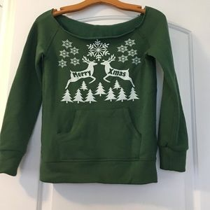 Christmas off the Shoulder Ugly Sweater