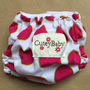 CuteyBaby Other - CuteyBaby reusable diaper cover. Pink polka dots