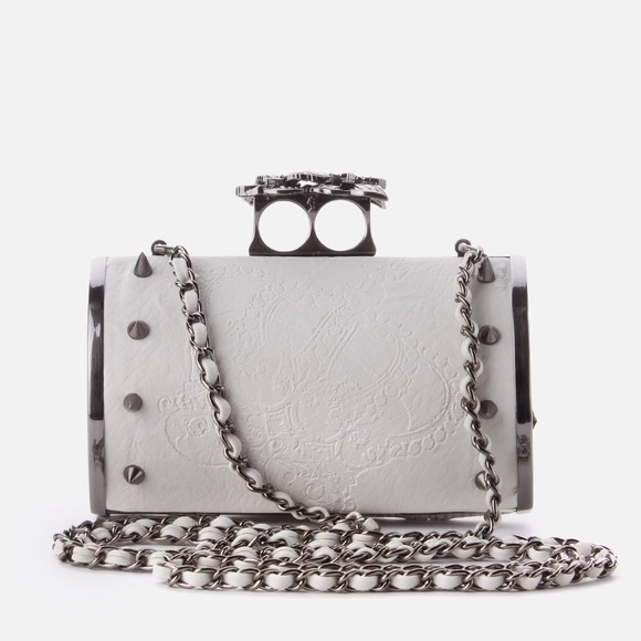 09fd8e47982e ASOS Handbags - Religion Monarch Studded Hard Clutch Off White