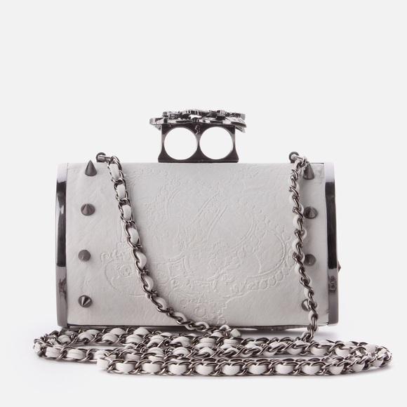 00cb456202 ASOS Handbags - Religion Monarch Studded Hard Clutch Off White