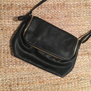 H&M foldy black faux leather crossbody bag!!!!