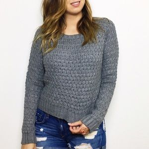 Forever 21 Sweaters - Grey Waffle Knit Sweater