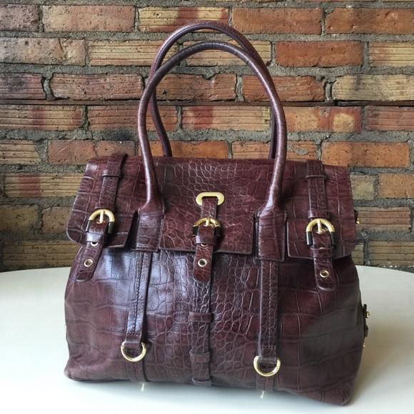 f5967785918833 Badgley Mischka Handbags - 🎉HP🎉Badgley Mischka Croc Embossed leather dr  bag