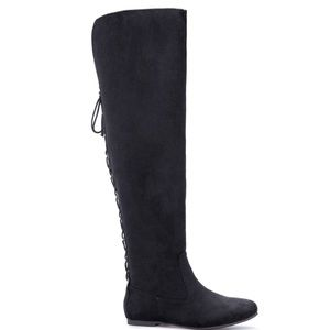 Shoes - Black Thigh High Boots