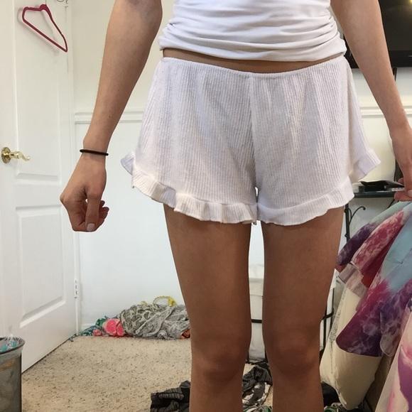 63% off Brandy Melville Pants - Brandy Melville White Flowy Shorts ...