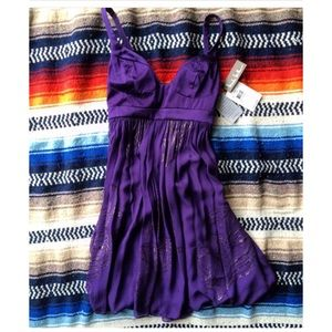 Nicole miller purple dress