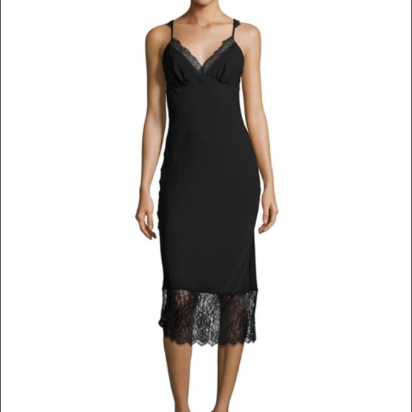 bd5408ed2cafd Diane von Furstenberg Dresses | Dvf Slip Dress With Lace Detail ...