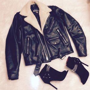 Vintage Leather Moto Jacket 💕