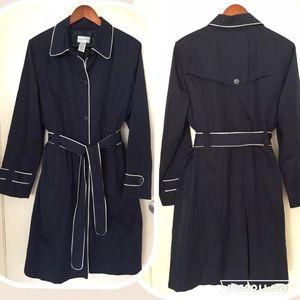 Jackets & Blazers - NAVY TRENCHCOAT S:12