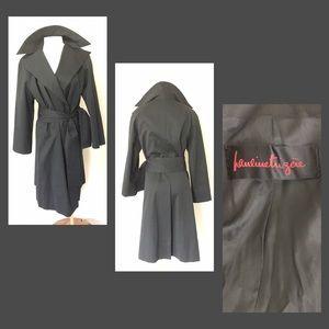 pauline trigere Jackets & Blazers - Pauline Trigere Black Trench Coat
