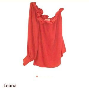 Leona Edminston Tops - Leona one shoulder silk blouse size small NWOT