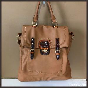 Black Rivet Handbags - Black Rivet Tan Bag