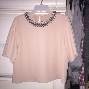 New boutique Blush pink  bell sleeve blouse
