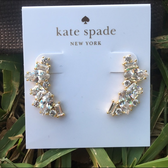 a481cfbc003f2 NWT Kate Spade Cluster Crawler Earrings