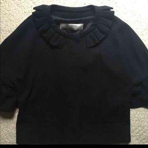 Valentino Roma wool silk ruffle sleeve jacket
