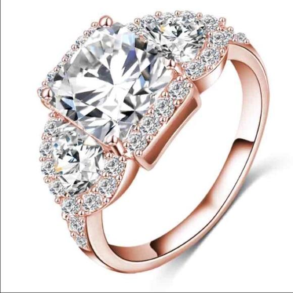 87793b3bc Jewelry | Princess Pear Rose Gold Engagement Ring | Poshmark