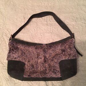 Loewe Handbags - Loewe shoulder bag. Hunter green w/grey fur.