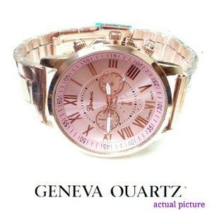 Geneva Accessories - 💕GREAT GIFT!💕 GENEVA  ROSE STAINLESS STEEL WATCH