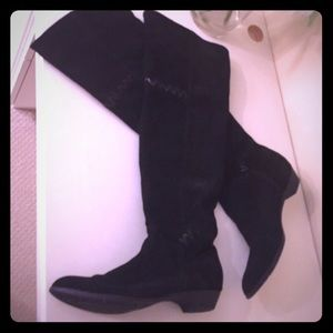MIA Shoes - MIA Black Suede Knee High Boots Size 8.5