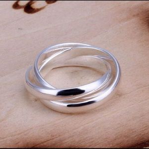 NEW NWOT Sterling Silver Trinity Triple Band
