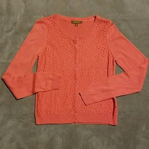 Hive & Honey Sweaters - Hive and Honey Orange Coral Cardigan M