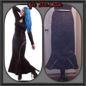 Hot Topic Dresses & Skirts - Marithe Francois Girbaud Fishtail Skirt Sz 26