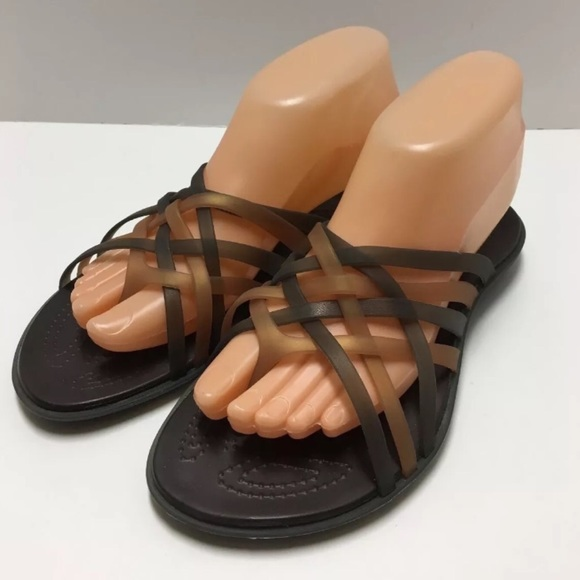 c4e329a7f50b CROCS Shoes - Crocs Size 8 Huarache Flip Flop Sandal Brown Tan