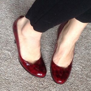 Anyi Lu Shoes - Anyi Lu red wine shoes NEW!
