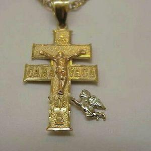 Other - Estate Vintage 14k 3-tone gold huge cross