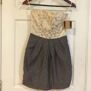 RACHEL Rachel Roy Dresses & Skirts - Strapless Dress with Gold Sequins