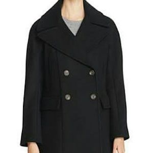 Vince Camuto black double-breasted coat