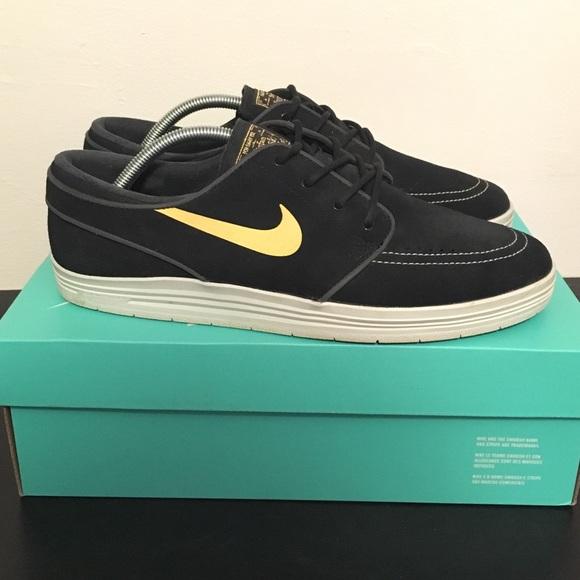 new arrival b5214 978a7 Nike SB Lunar Janoski Sz 10 Black Gold. M 584f40c12de51217b2054539