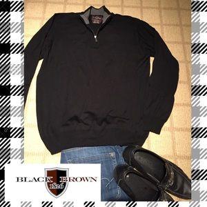 Black Brown 1826 Other - 🎊HP 1/9/17🎊 Men's 1/4 zip merino wool sweater🎁