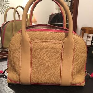 f9f3c7bacf8 Coach Bags   Small Tan Leather Purse With Pink Trim   Poshmark