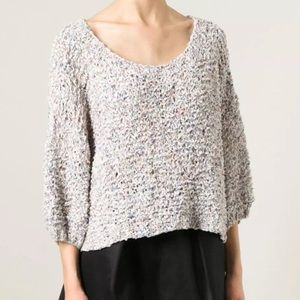 Mes Demoiselles Sweaters - MES DEMOISELLES PARIS Sweater Eyelet Pullover Top